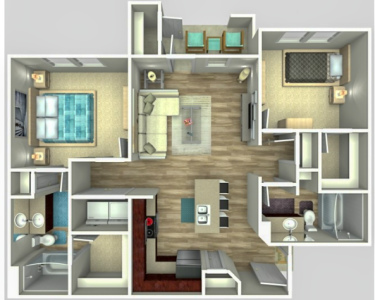 B1 - Two Bedroom / Two Bath - 918 Sq.Ft.*